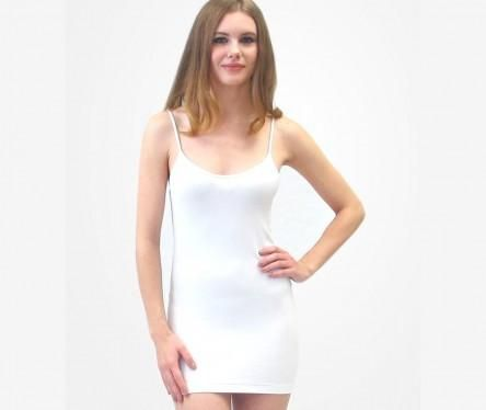White Basic Seamless Camisole by Elietian