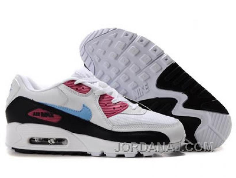 Ken Griffey Shoes Nike Air Max 90 White Black Pink Sky Blue [Nike Air Max 90  - Attractive Nike Air Max 90 White Black Pink Sky Blue shoes are  outstanding ...