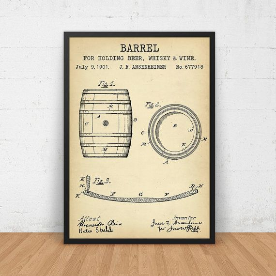 Barrel blueprint patent art digital download by digitalblueprints barrel blueprint patent art digital download by digitalblueprints patent art printables print it yourself pinterest barrels and art decor malvernweather Image collections