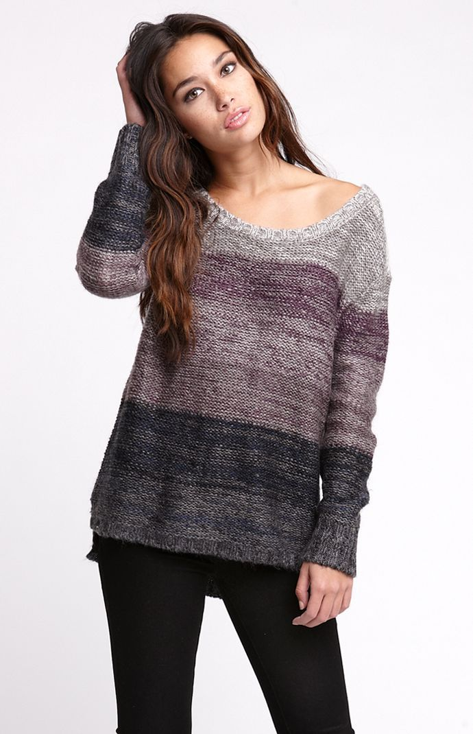 (Limited Supply) Click Image Above: Womens La Hearts Sweater - La Hearts Boxy Open Back Sweater