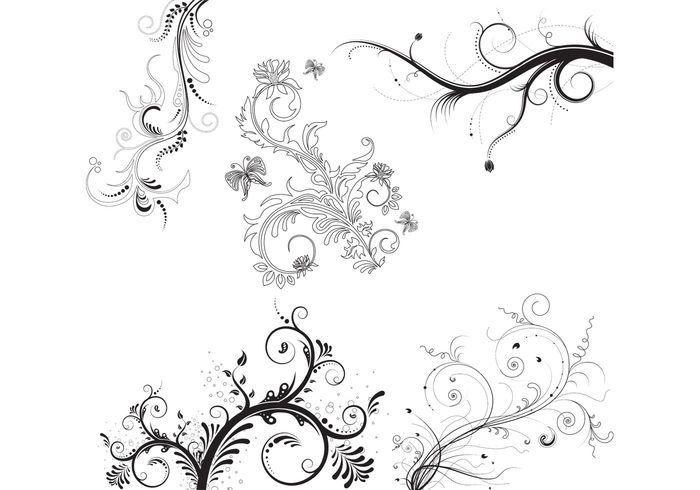 5 Floral Ornaments