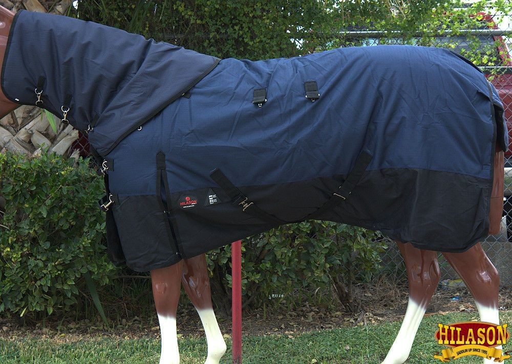 HILASON 1200D Waterproof Winter Horse Blanket Neck Cover Belly Wrap