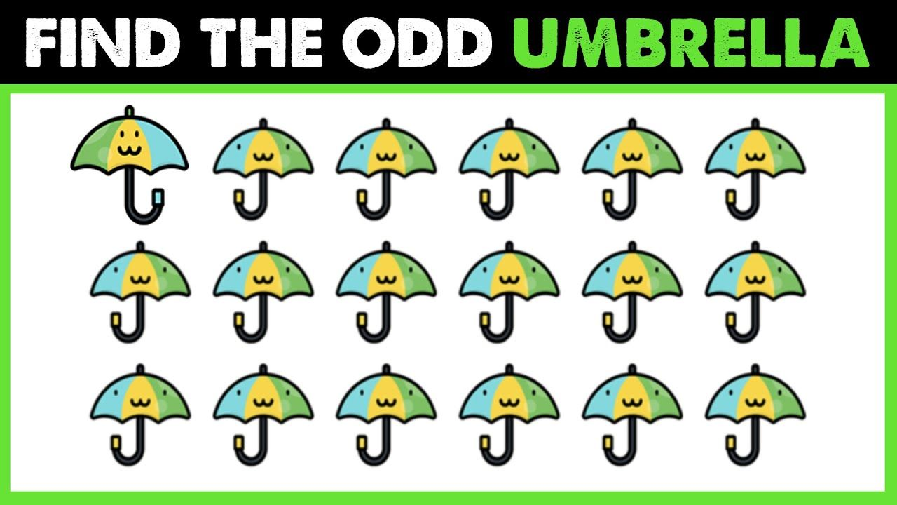 Spot The Odd Umbrella One Out Find The Difference