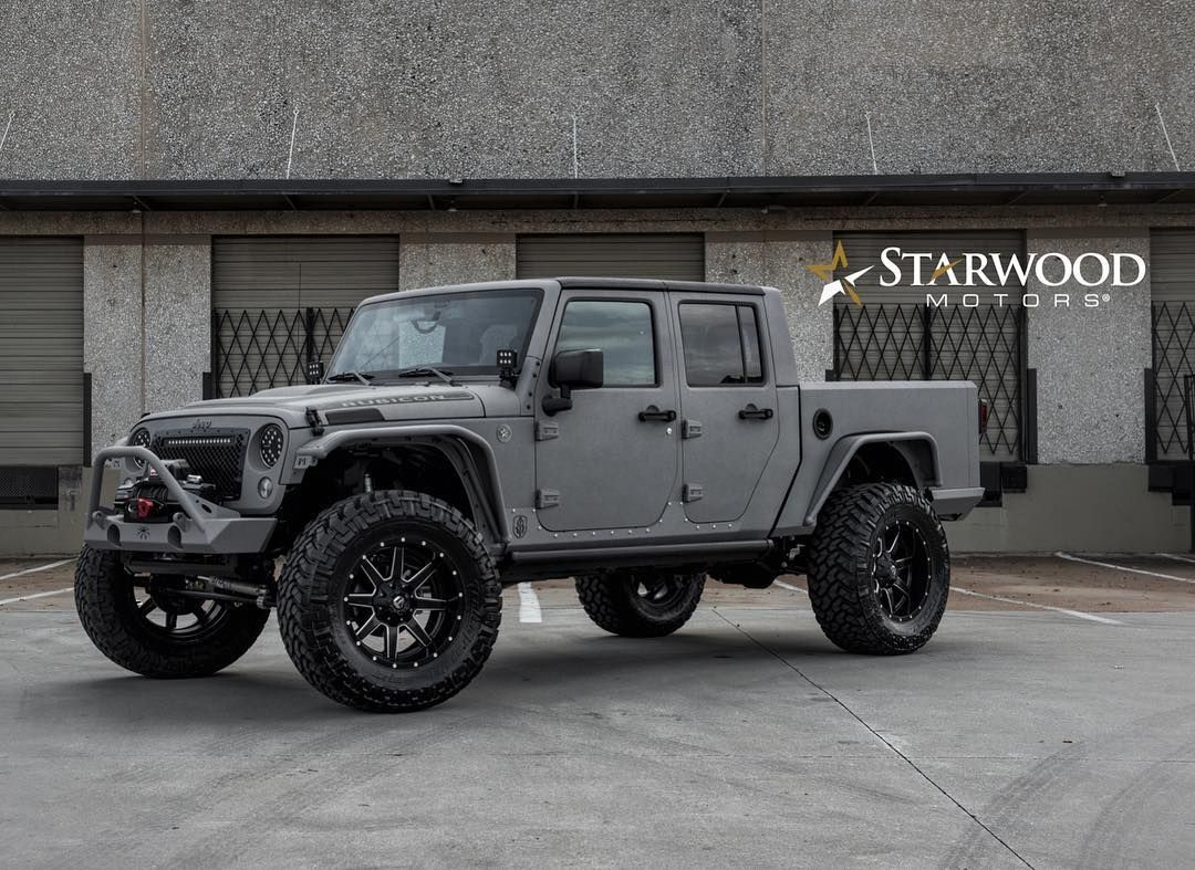 Grey Bandit Conversion Starwoodmotors Starwood Customs Custom Jeep Wrangler Jeep Wrangler Pickup Custom Jeep
