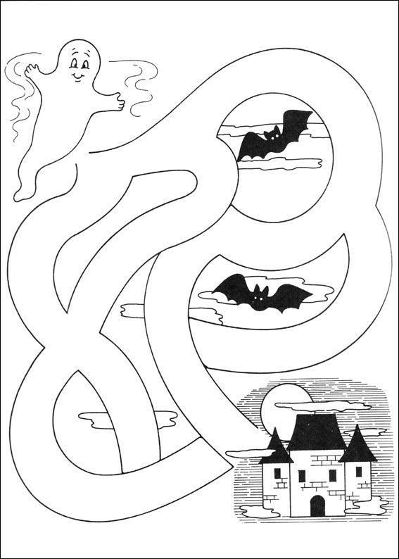 Jeu du labyrinthe imprimer coloriage magique en 2019 halloween preescolar manualidades - Jeu labyrinthe a imprimer ...