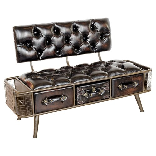 Brooklyn Max City Faux Leather Storage Bench Leather Storage Bench Storage Ottoman Bench Storage