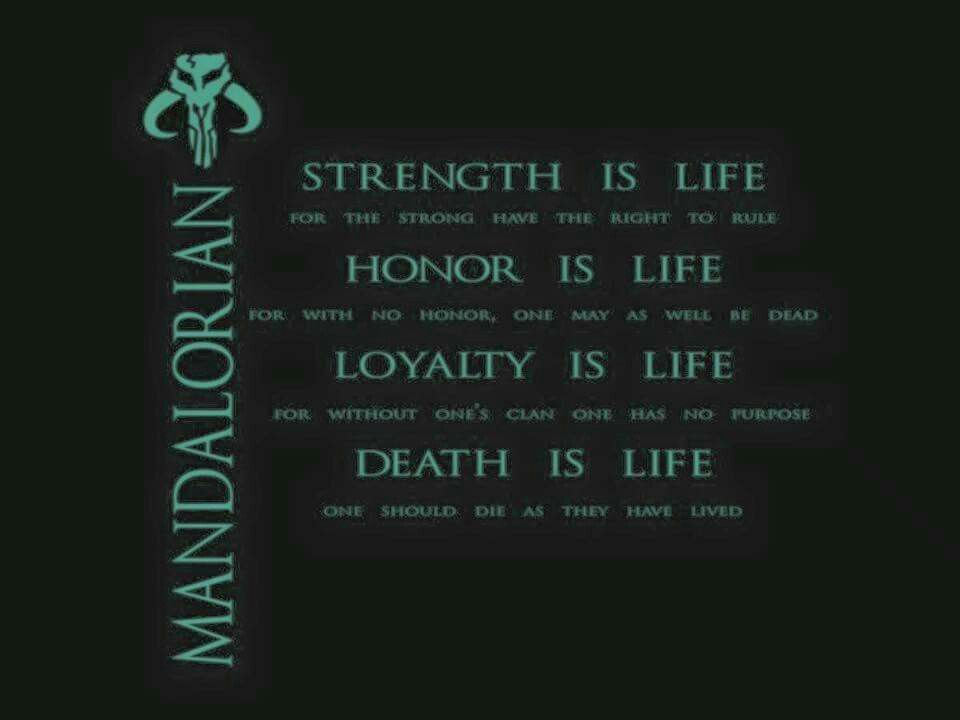 Mandalorian Code Mandalorian Star Wars War