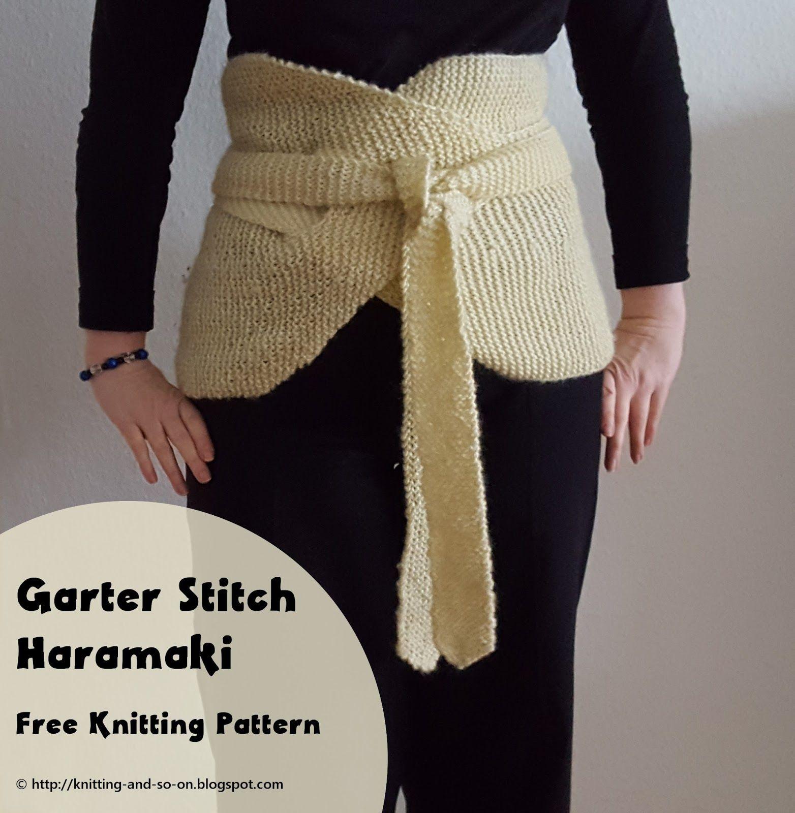 Garter Stitch Haramaki - Free Knitting Pattern by Knitting and so on ...