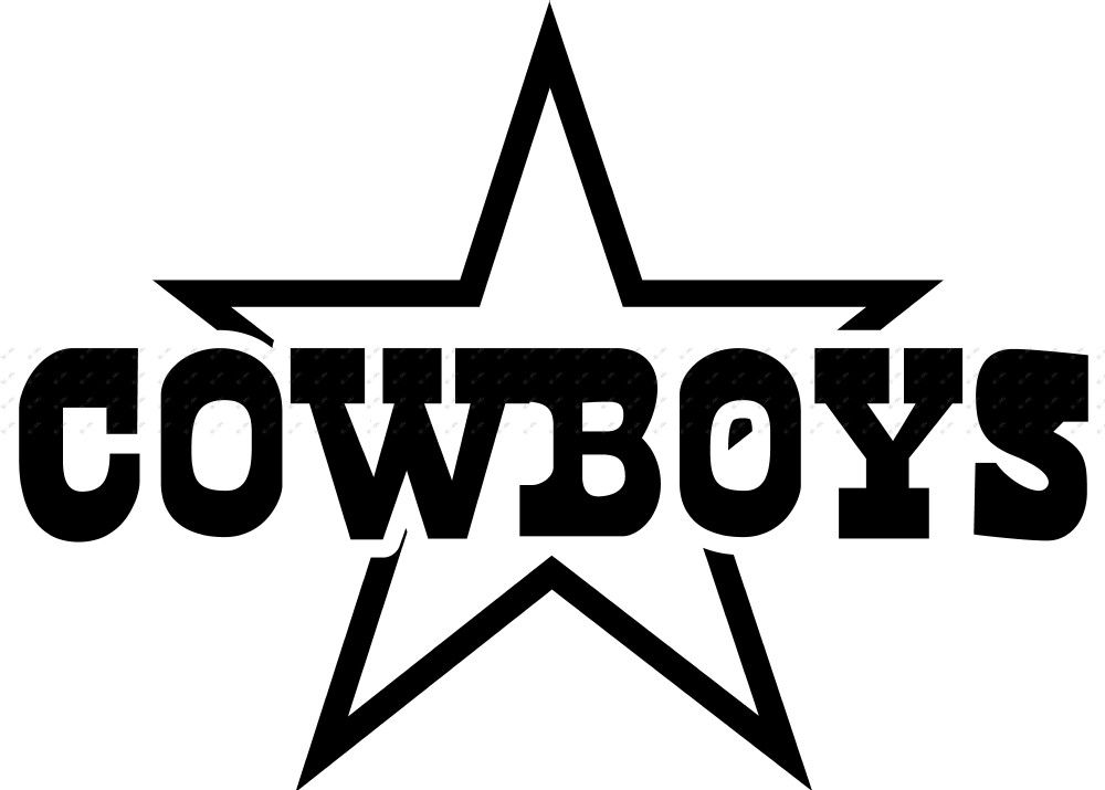 Dallas Cowboys Black And White Logo Vinyl nfl dallas ...