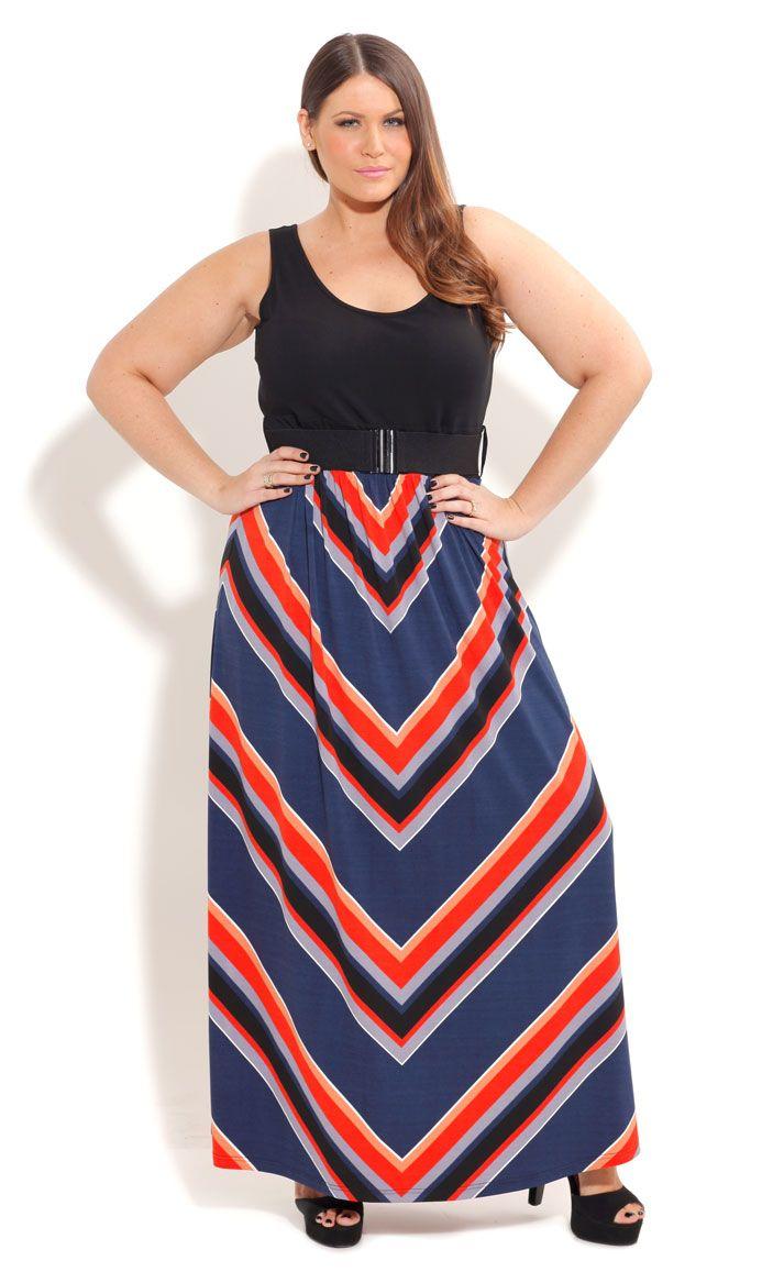 City chic so cute maxi stripe dresswomenus plus size fashion ropa