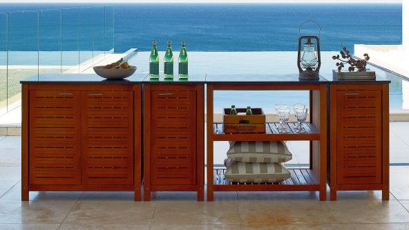 Canella Single Cupboard With Granite Top - Outdoor Dining | Harvey ...