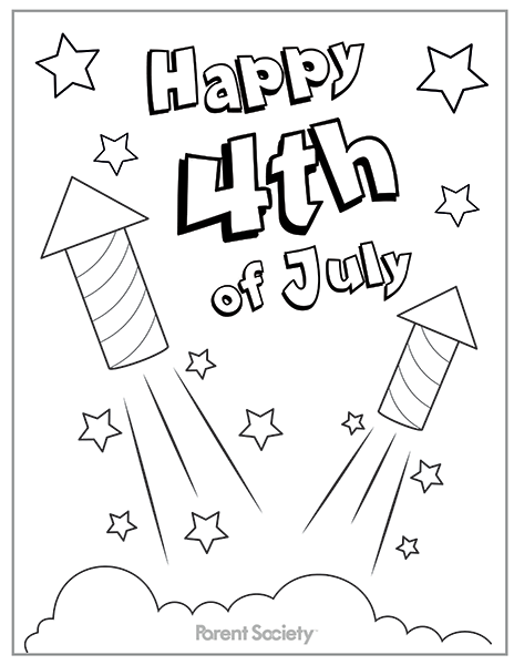 Free Printable 4th of July Coloring Pages For Kids Adults