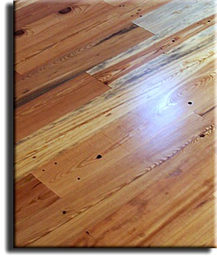 Rustic Cabin Grade Of Antique Heart Pine Flooring From Appalachian