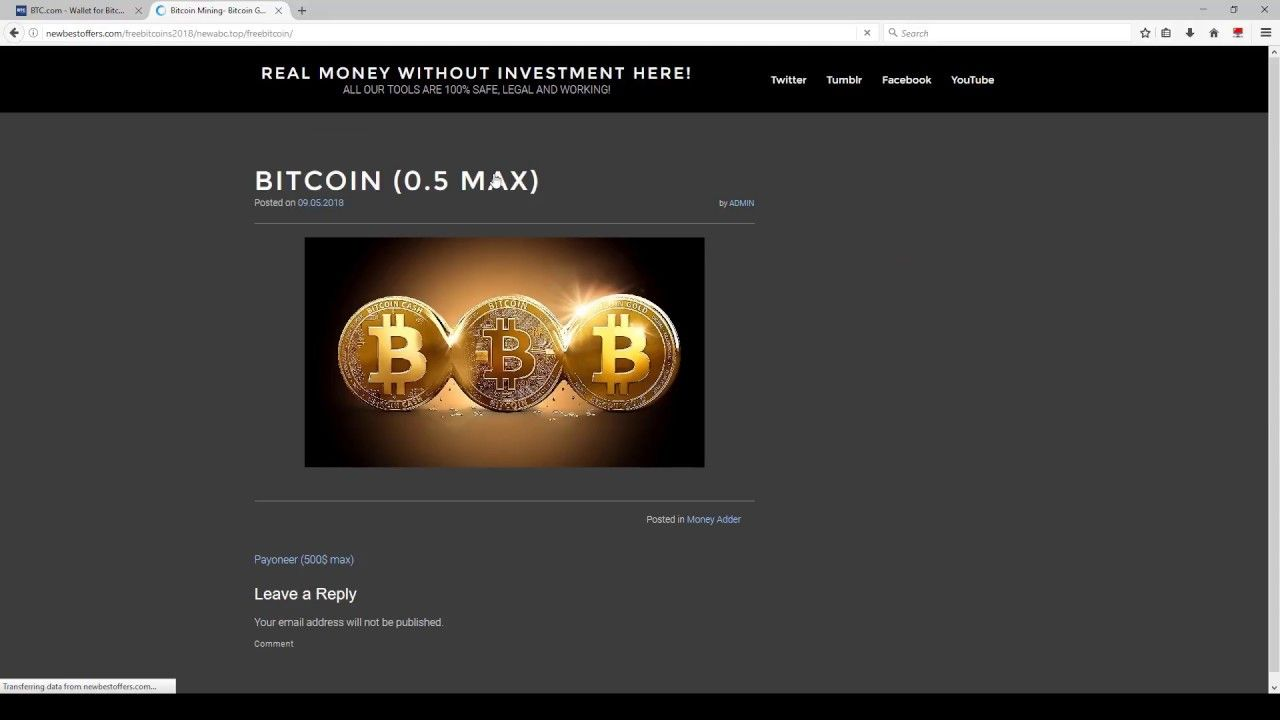 New Bitcoin hack 2018 - Earn BTC Without Investments Online
