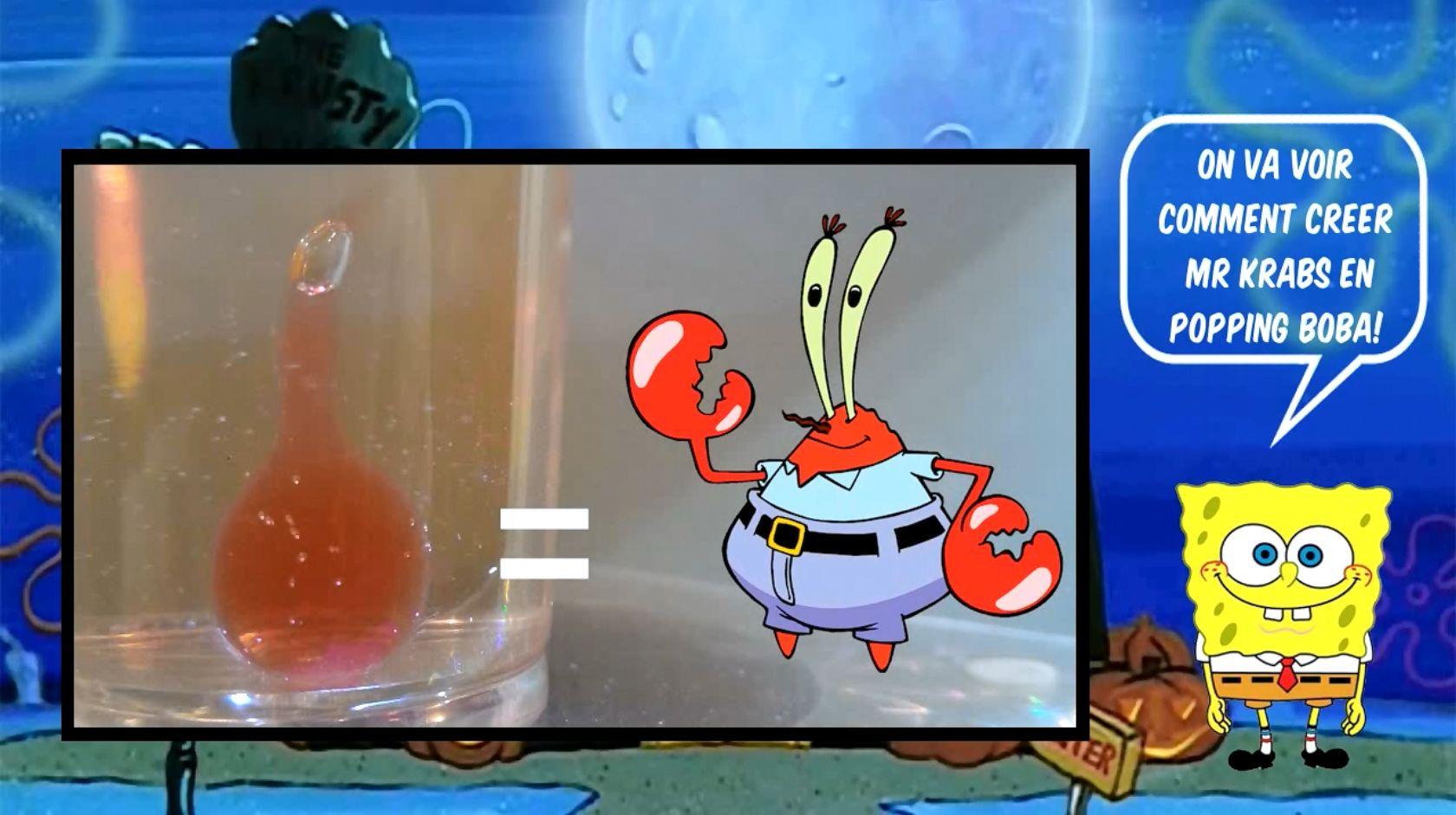 Comment Créer Mr Krabs De Bob L Eponge En Popping Boba Fraise Bonbon