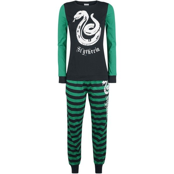 9392999c891e Slytherin Stripes ❤ liked on Polyvore featuring intimates, sleepwear,  pajamas, long sleeve sleepwear, striped pajama set, striped pjs, striped  pajamas and ...