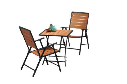 Remarkable Backyard Classics Ashton 3 Piece Enduro Wood Folding Bistro Creativecarmelina Interior Chair Design Creativecarmelinacom