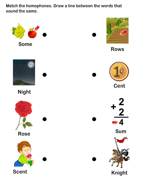 Homophone Word Worksheet5