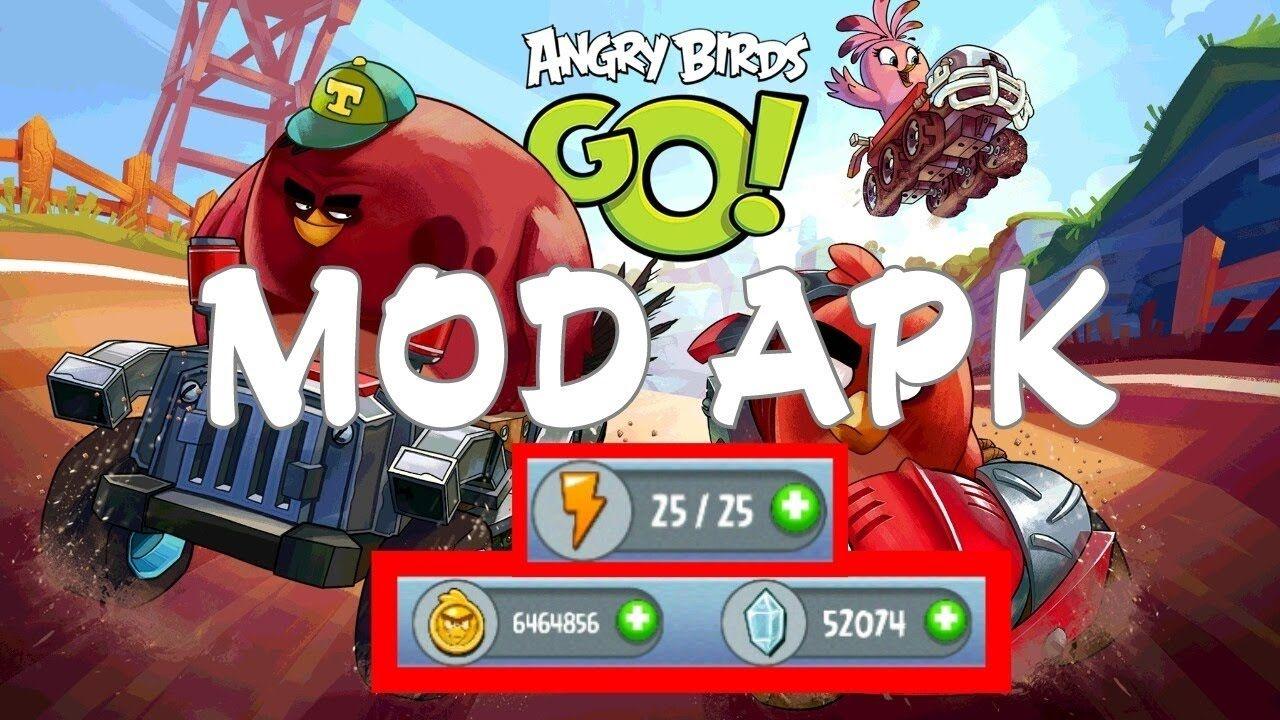 angry birds go mod apk 2018