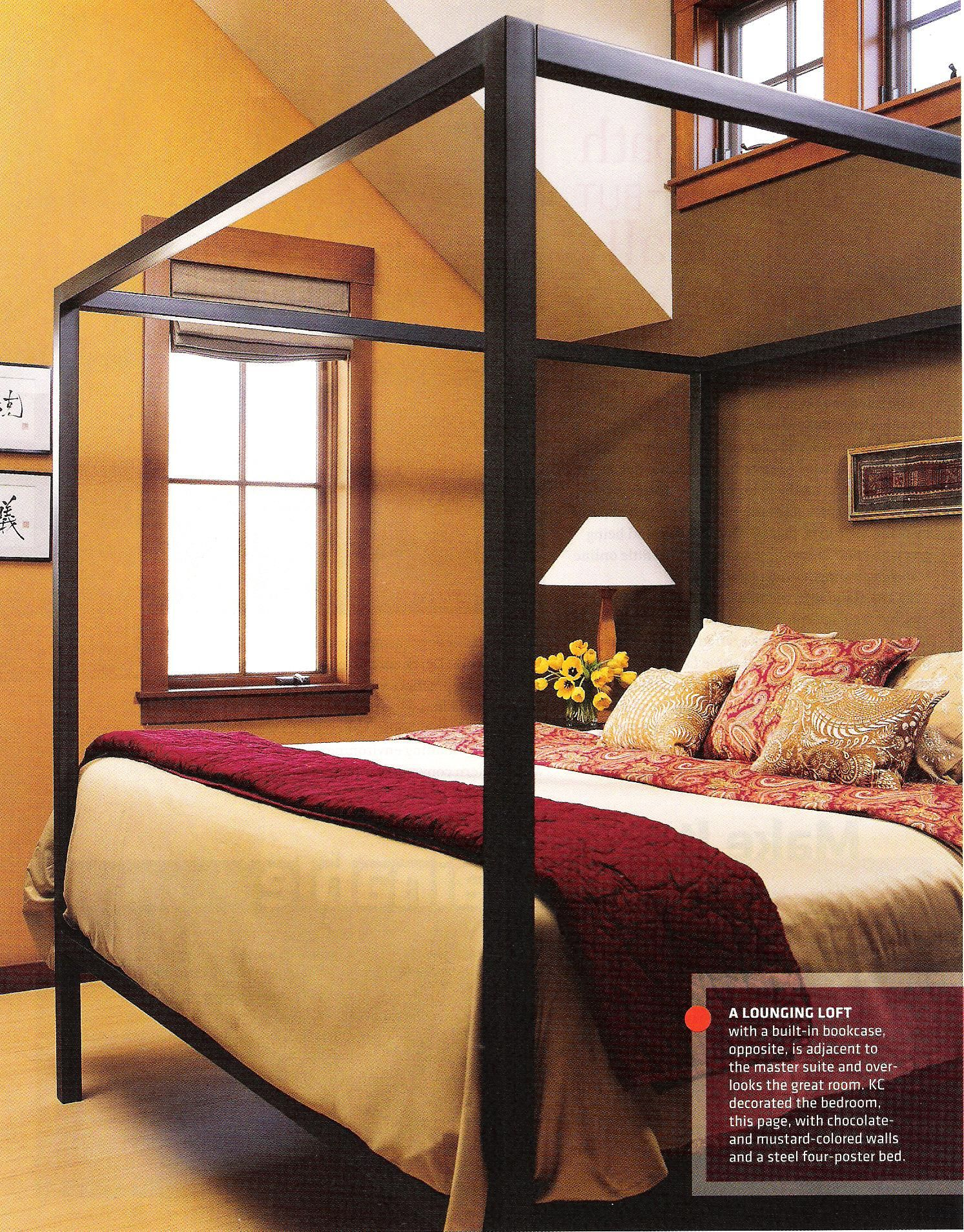 Taupe Bedroom Ideas: Rich Ochre Walls, With Taupe Brown, Cream. Bedroom.