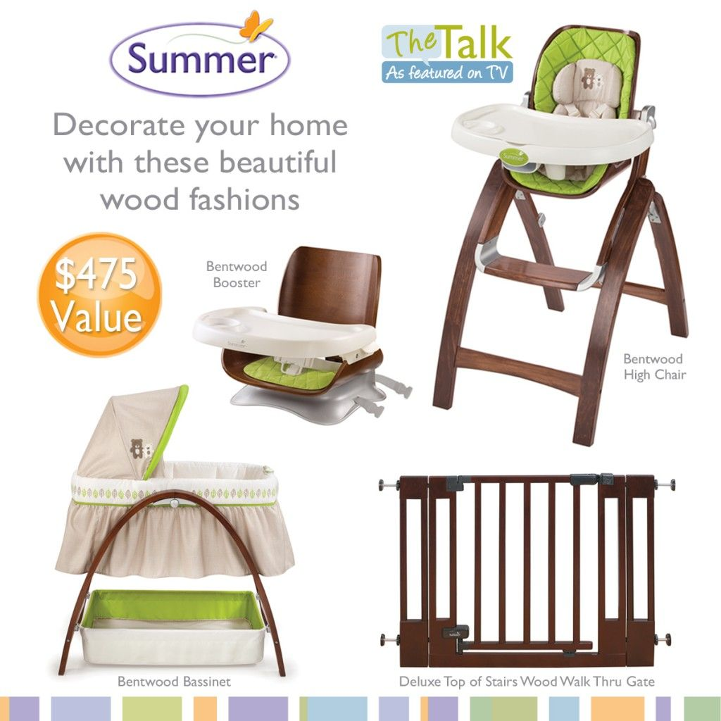 Enter To Win A Summer Infant Bentwood High Chair On The Blog