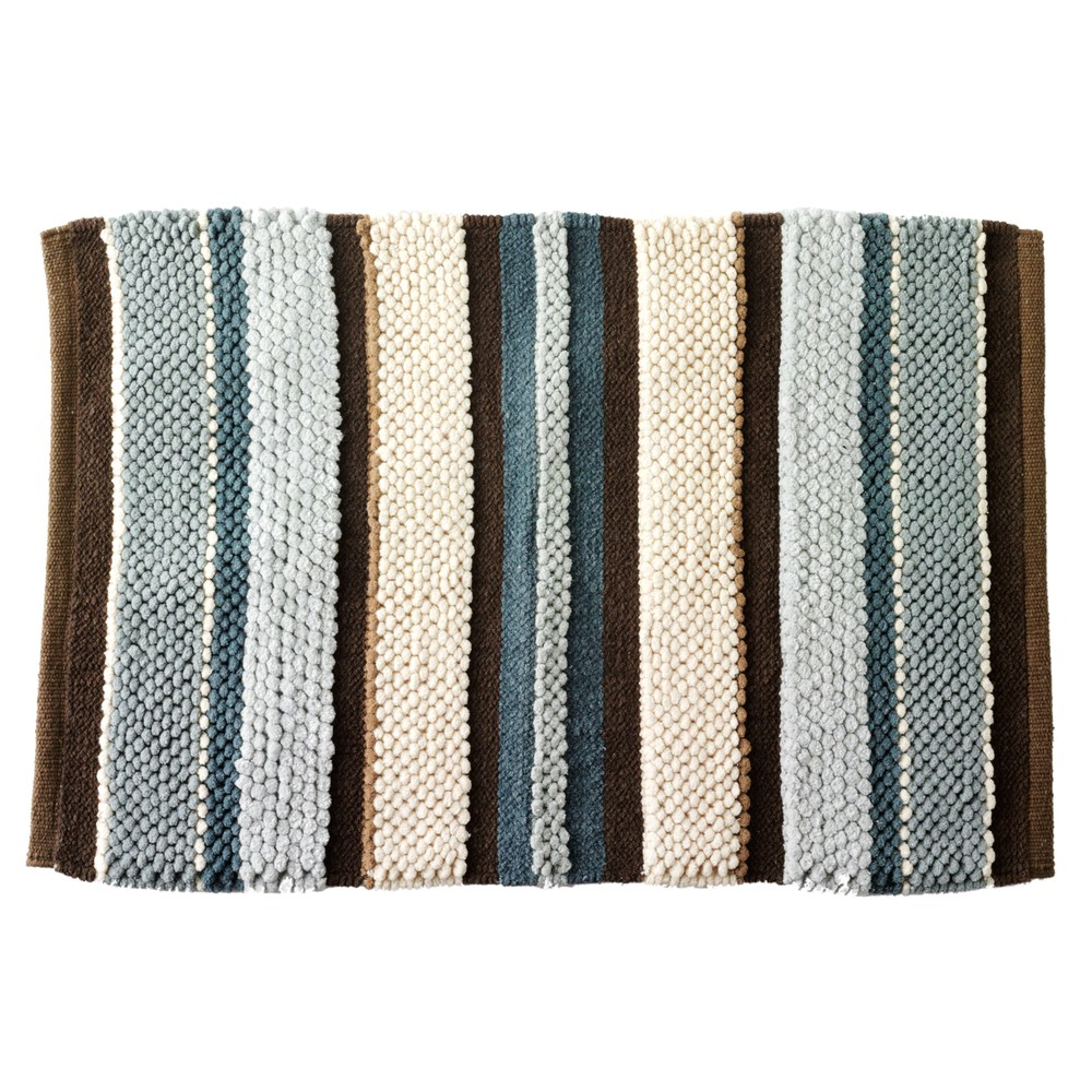 Madison Striped Bath Rug Products Rugs Shower