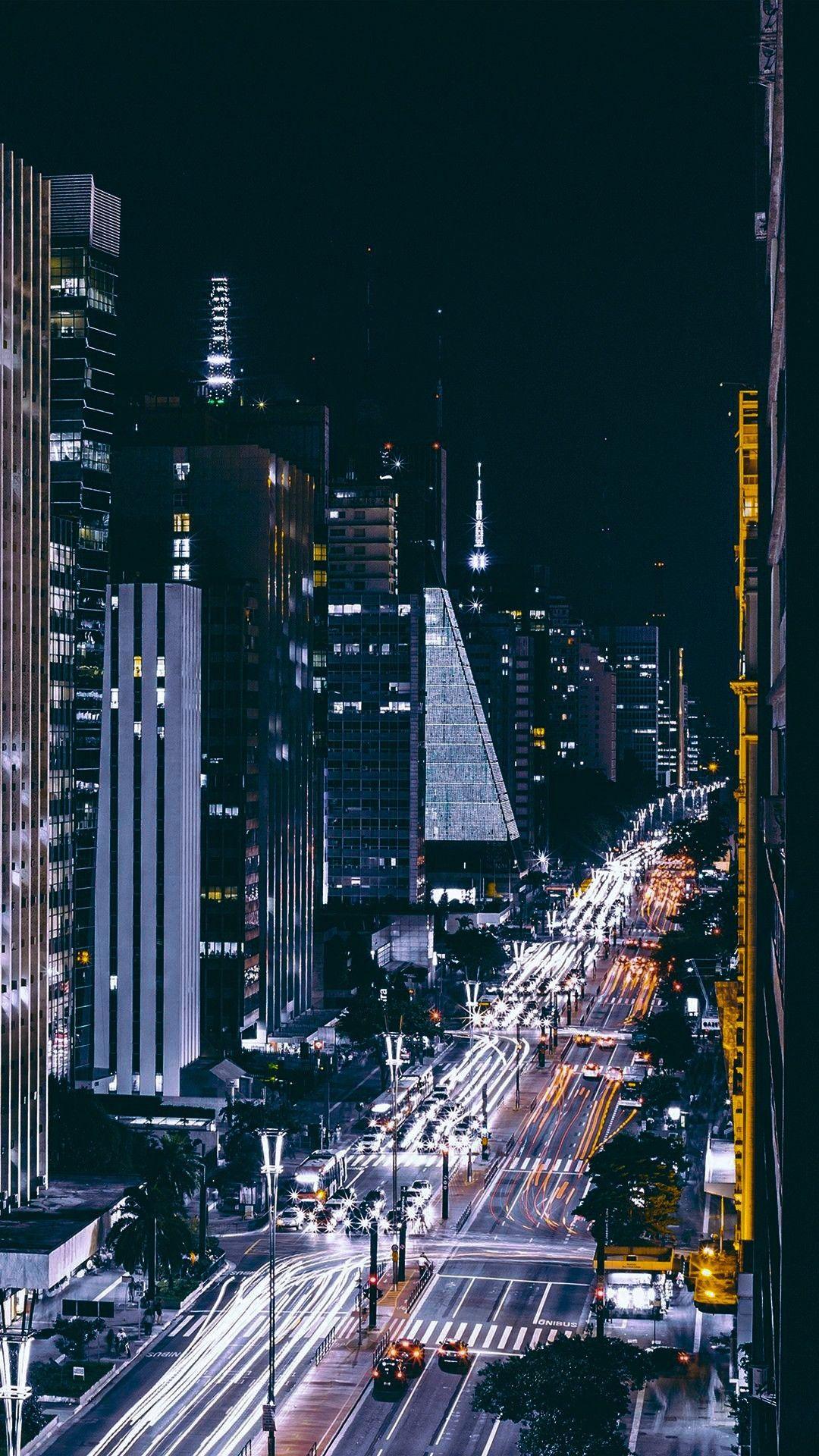 Paulista Avenue Sp Paisagem Da Cidade Wallpaper Cidade Figura Fundo