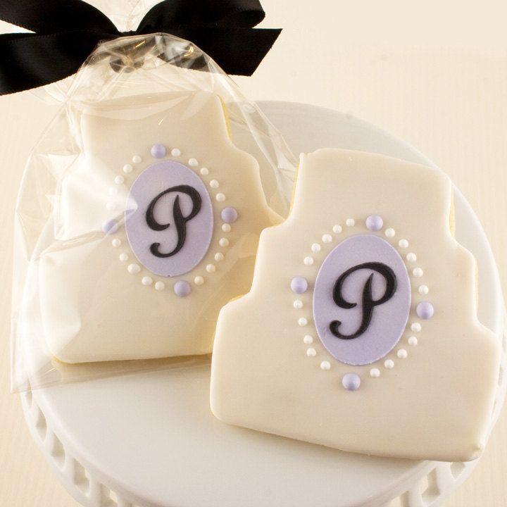 Wedding Dress or Cake Sugar Cookies - via Etsy.