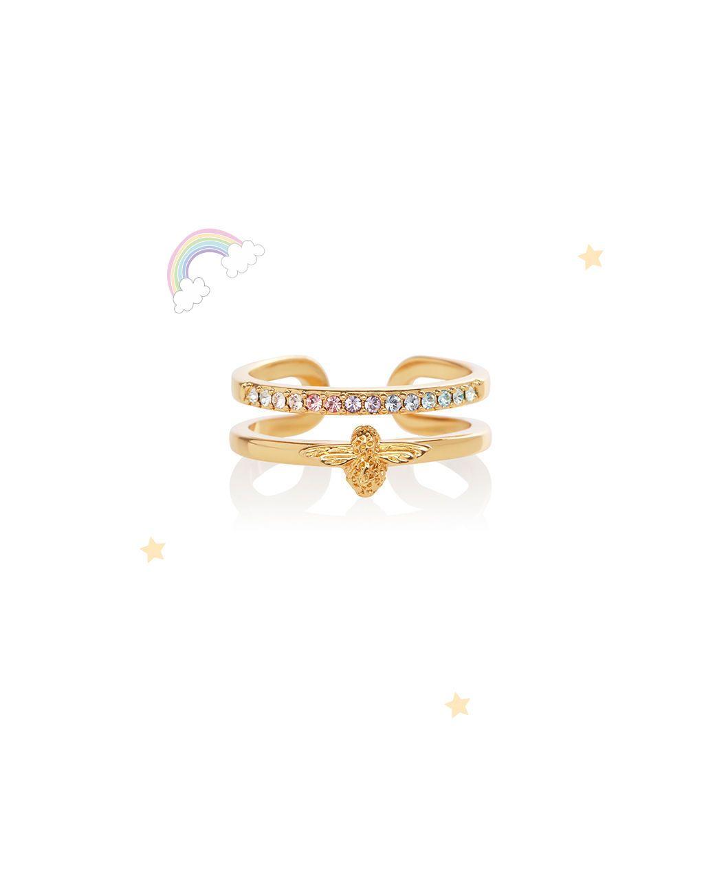 bfdab9779 Rainbow Bee Ring Gold   Olivia Burton London   Olivia Burton UK ...