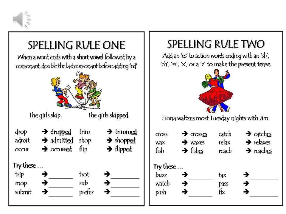 sr1 and 2.jpg Spelling rules, English spelling rules