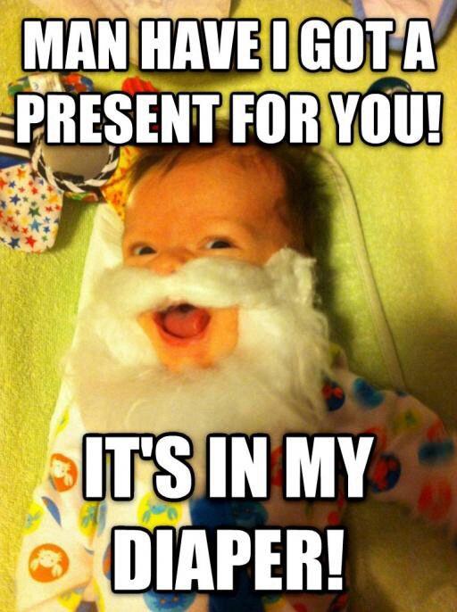 #lol #merrychristmas #haha #diaper #baby #santa