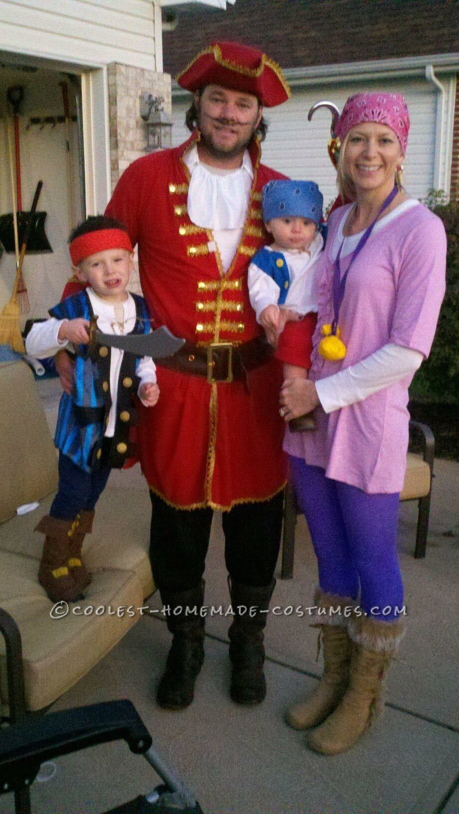 coolest jake and the neverland pirates family costume | kids
