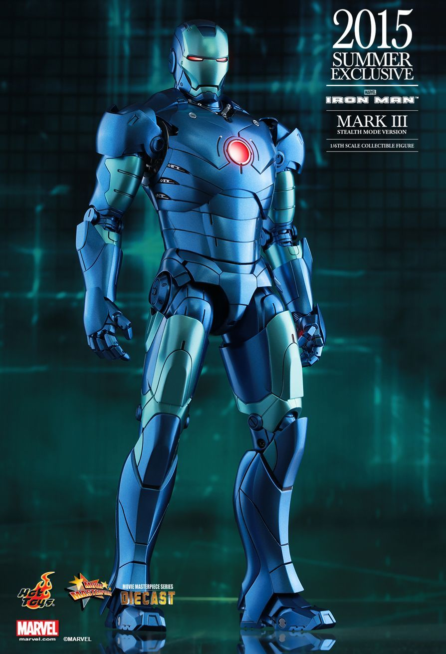 Hot Toys : Iron Man - Mark III (Stealth Mode Version) 1/6th scale Collectible Figure