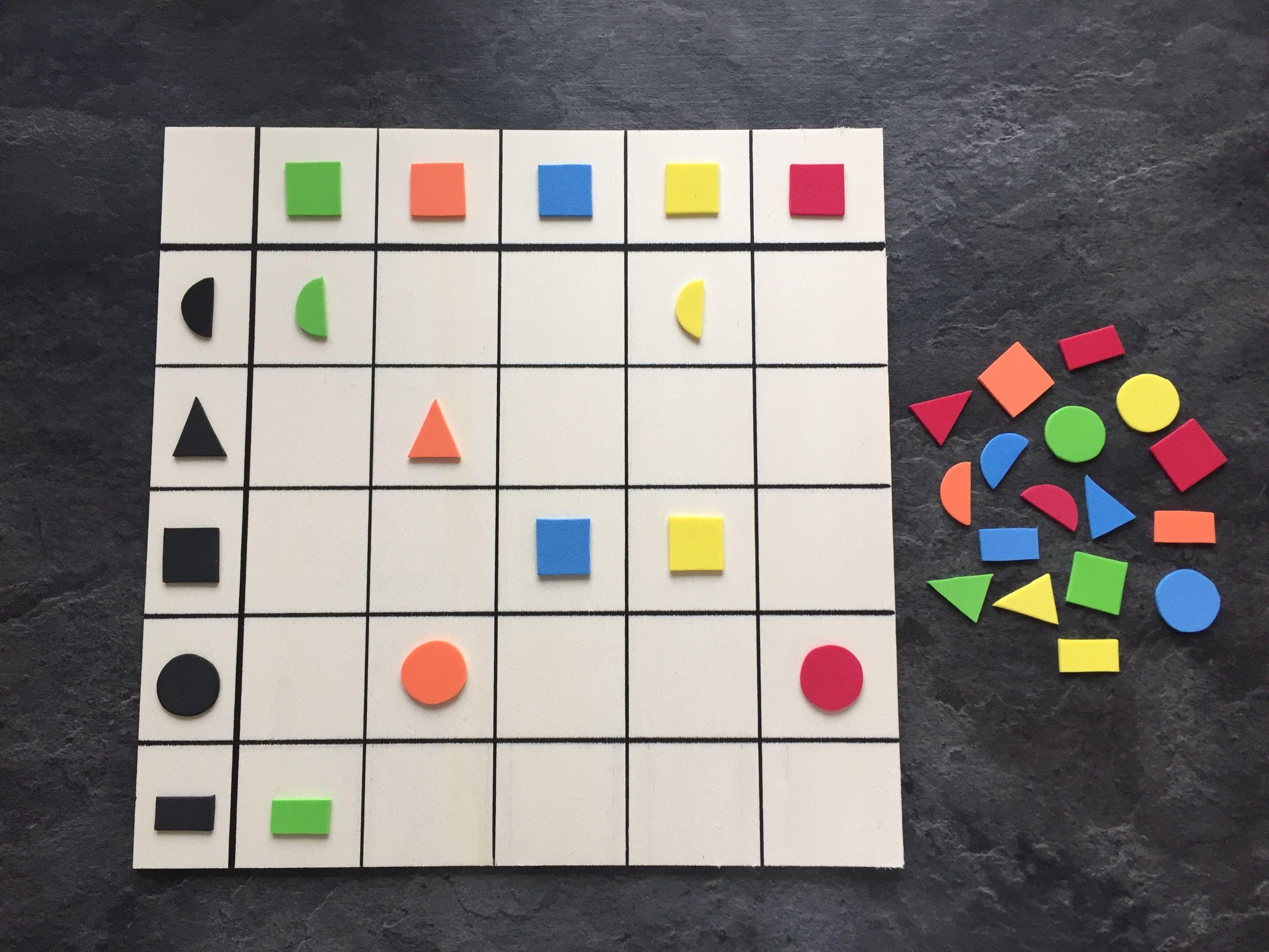 Farben und Formen zuordnen Material: Holzplatte, Moosgummi | Therapy ...