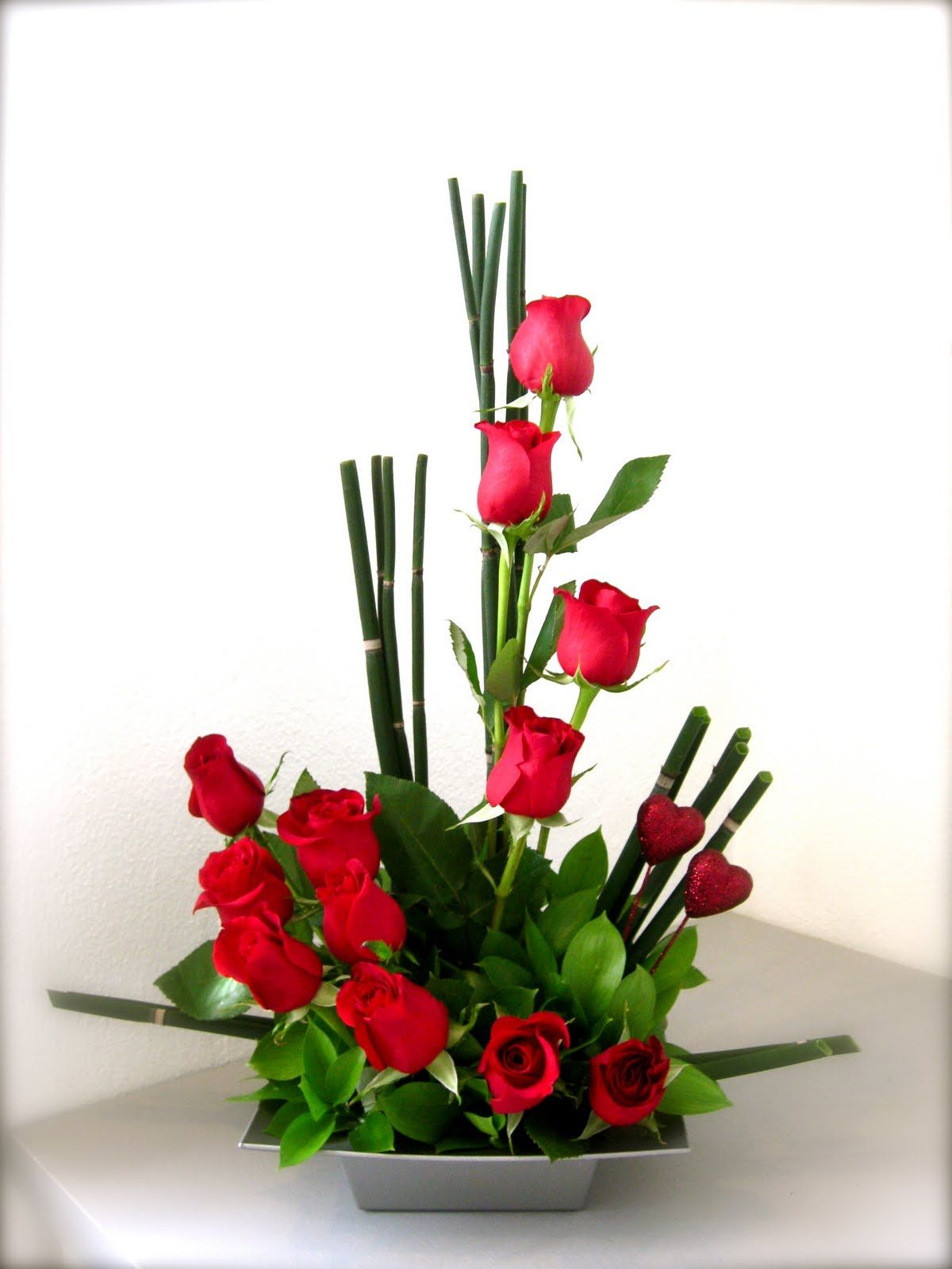 Valentines Day Floral Arrangement Modern  Google Search