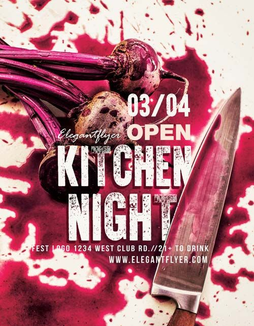 Kitchen Night Free Workshop Flyer Template  HttpFreepsdflyer