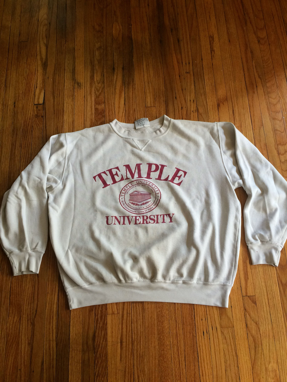 Vintage Temple University Over Size Beat Up Destroyed Long Sleeve Sweatshirt 90 S Long Sleeve Sweatshirts Sweatshirts Oversized Sweatshirt [ 3000 x 2250 Pixel ]