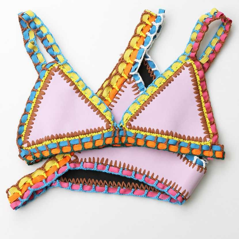 7078eee954 Clearance bikini sale Large size neo crochet bathing suit kiini crochet ro bikini  kini swimwear. No Return No Exchange.
