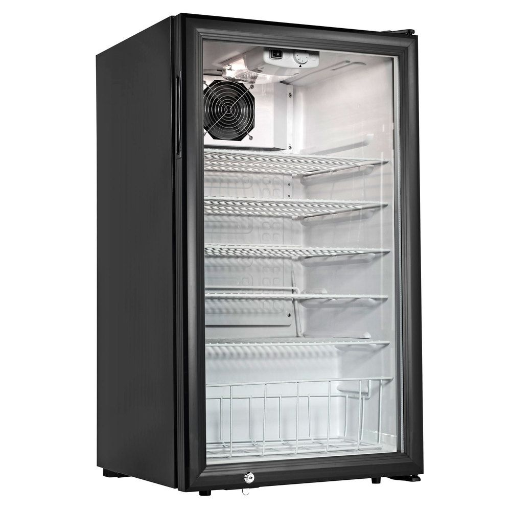 Cecilware Ctr3 75 Black Countertop Display Refrigerator With Swing