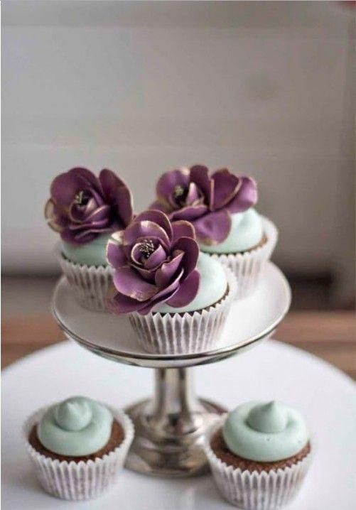 Fleur Cupcakes Precious Food Cupcakes Cake Purple Wedding