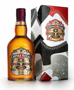 Chivas Regal 12 years old limited edition tin designed by shoemaker Tim Little.