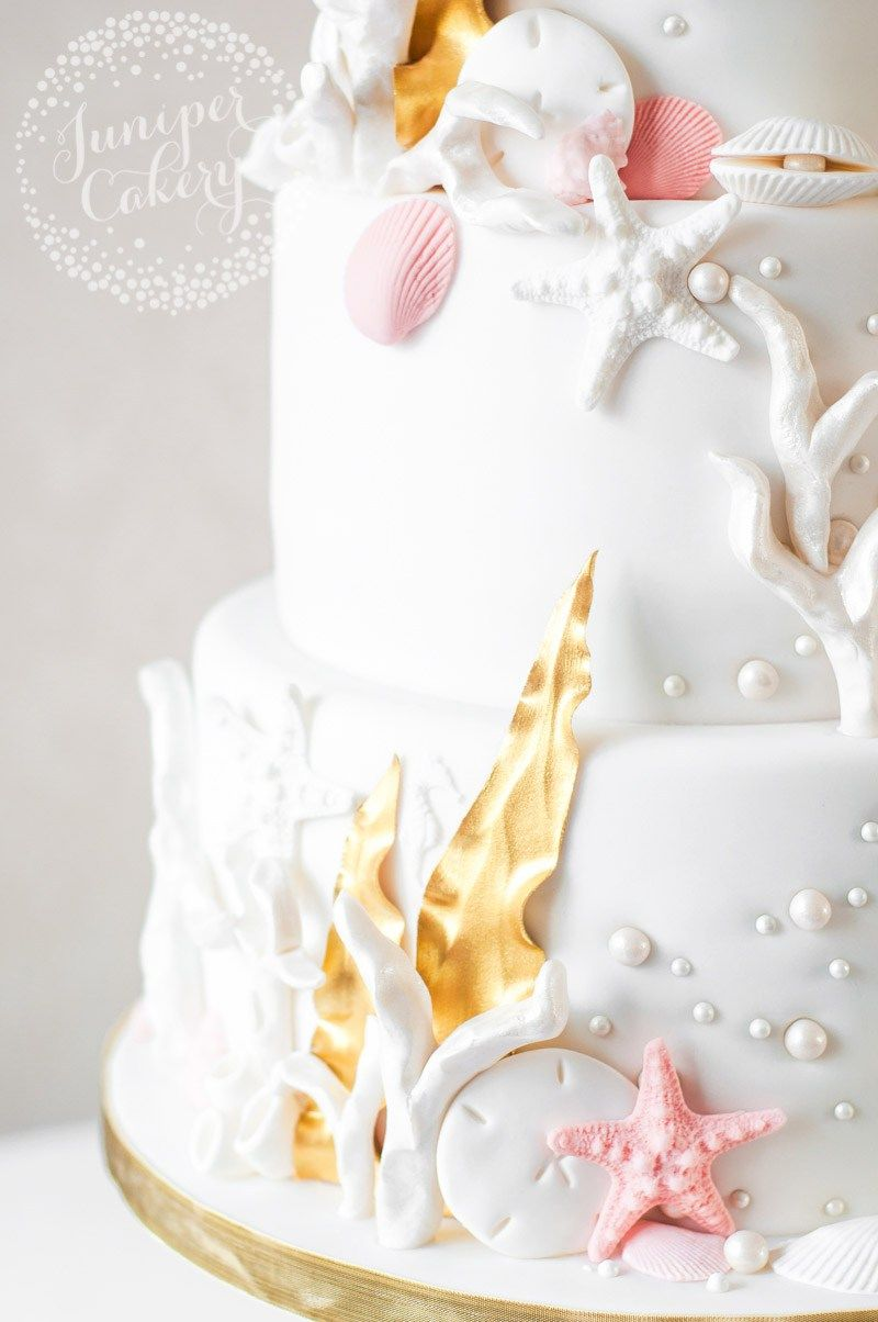Chic and Stylish Under The Sea Themed Wedding Cake! | Themed wedding ...