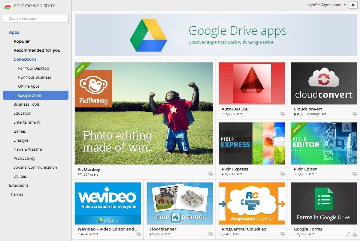 Add Apps to Google Drive programs to add capabilities - file conversions, faxing, electronic signatures?