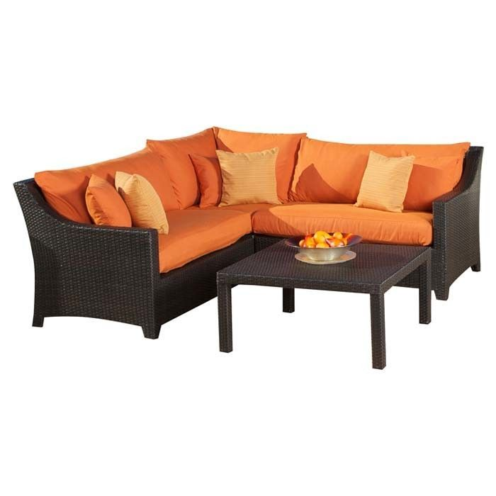 Fabiano 4 Piece Deep Seating Group with Cushions
