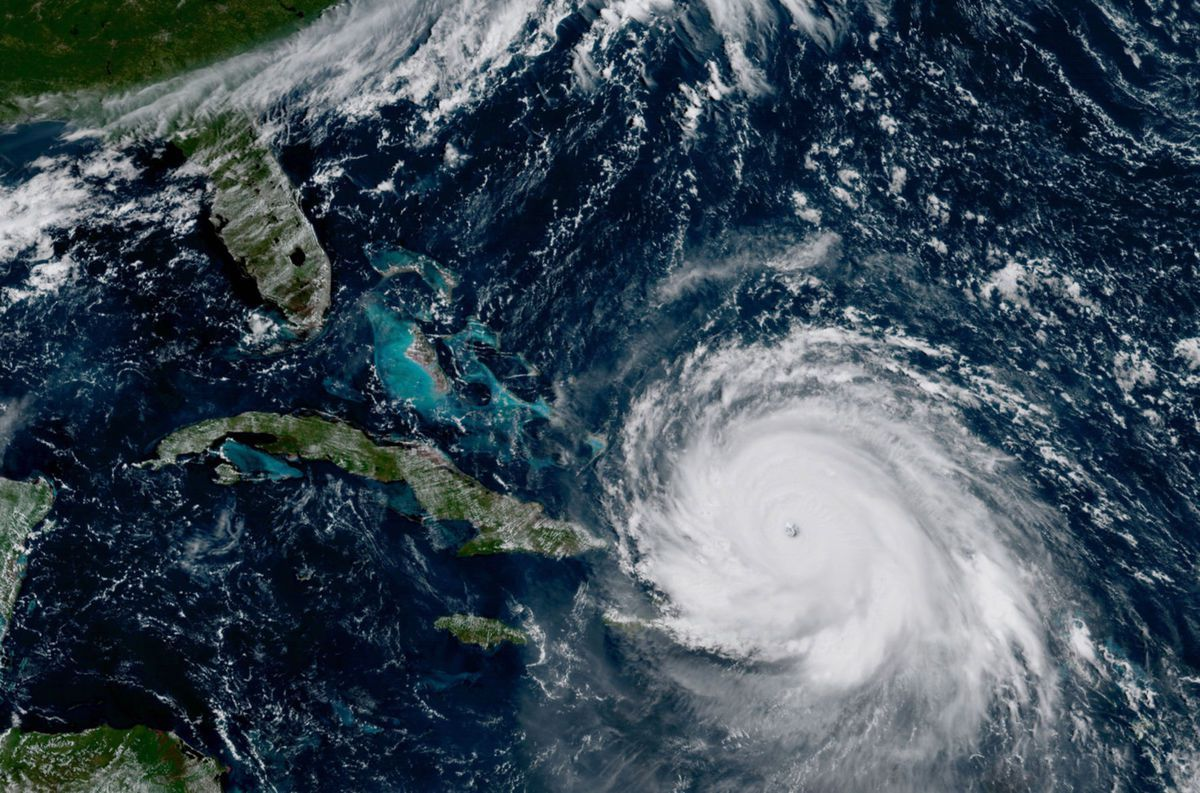Hurricane Irma From A Distance Us Represented Hurricane Andrew Storm Florida