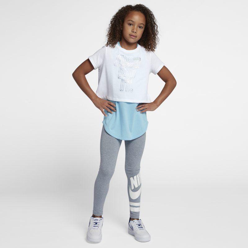 4bea8f7fe5 Nike Sportswear Older Kids' (Girls') JDI Cropped T-Shirt - White in ...