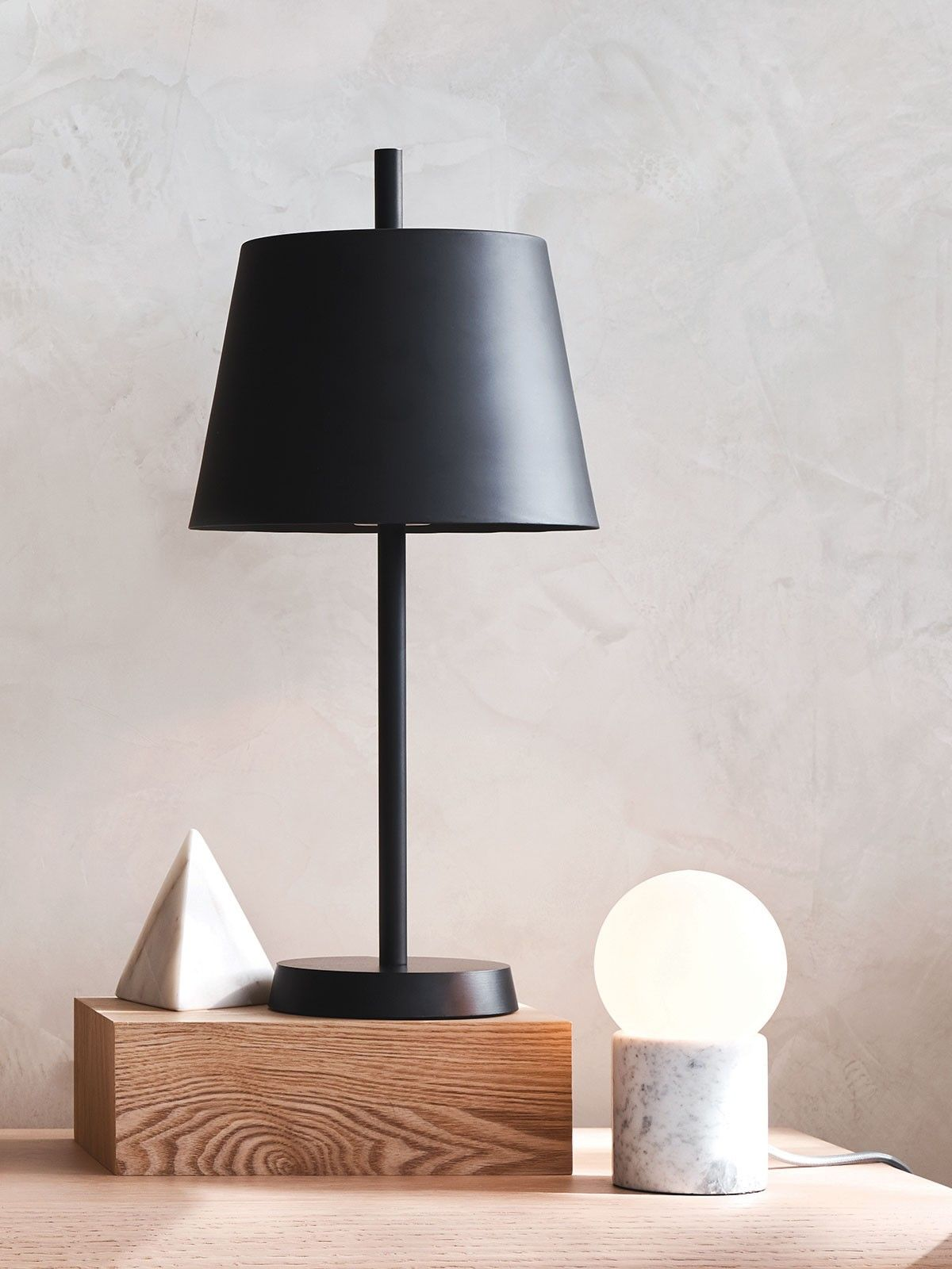 Milas 1 Light Table Lamp In Black Lamps