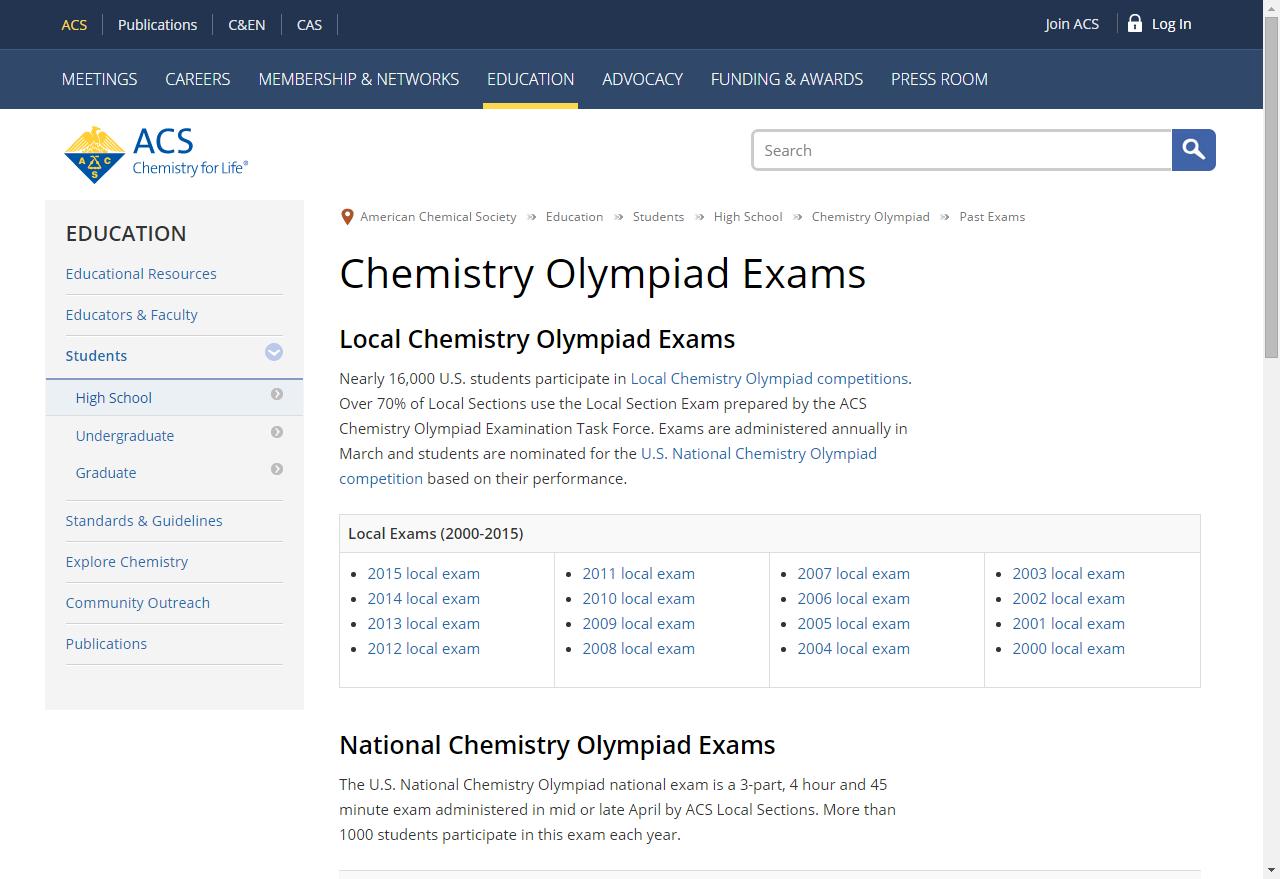 Ap Chem Q S Chemistry Olympiad Exams