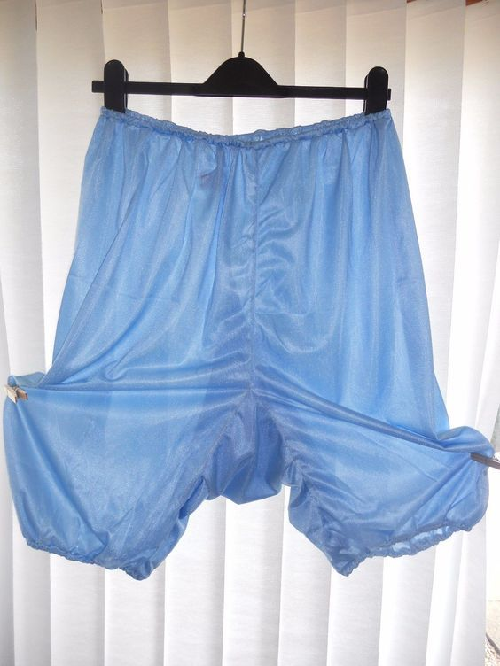 size 7 really cheap shop for newest Vintage rare Acetate blue nylon bloomers panties knickers ...
