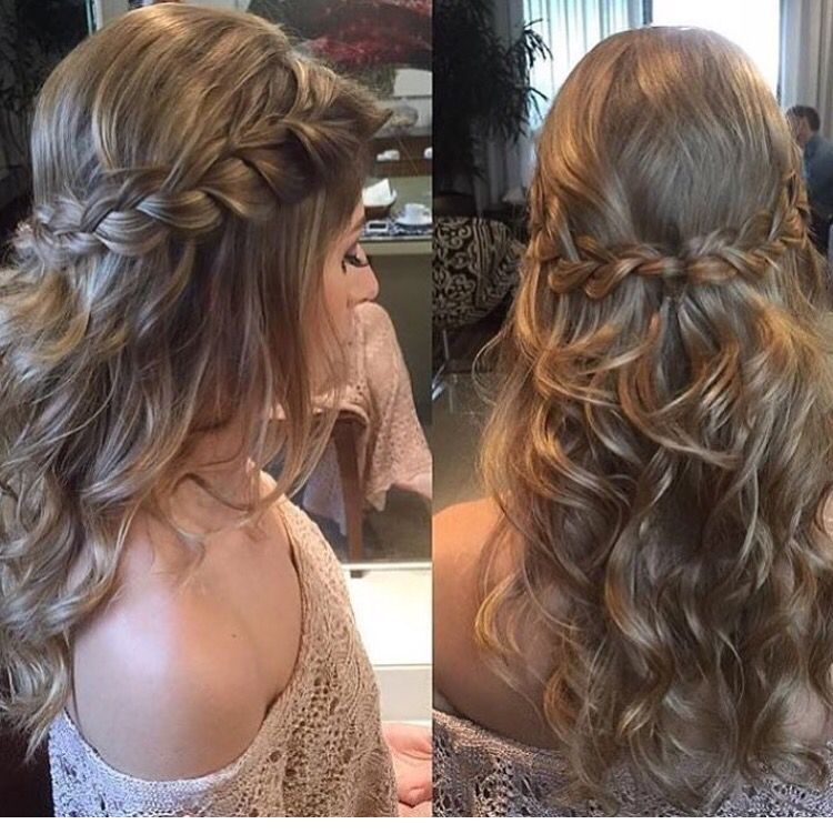 Trenza Peinado Suelto Peinados De Fiesta En 2018 Pinterest - Peinados-con-trenzaa